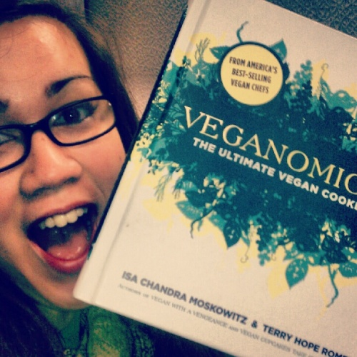 A co-worker gave me this fancy, vegan cookbook. I feel so spoiled!