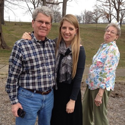 Grammy learns how to photobomb. She is an instant natural.